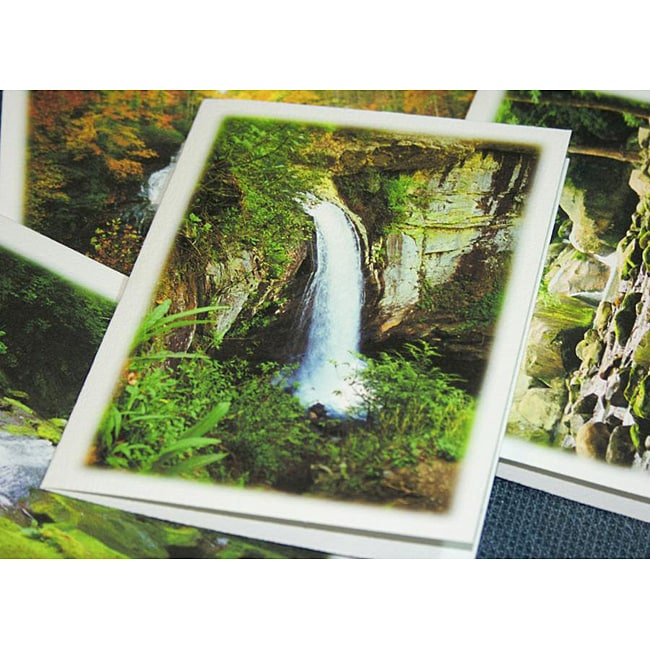 Orange Cat Art 'Waterfall Collection' Note Cards (Set of 4)