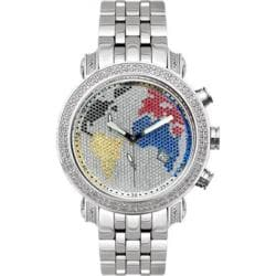 Joe Rodeo Men's World Map Diamond Watch