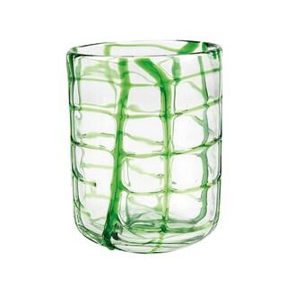 Impulse! Abrstract Green Rocks Glasses (Set of 4)