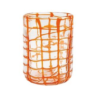 Impulse! Abstract Orange Rocks Glasses (Set of 4)