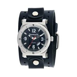 Nemesis Men's Black DateTracker Leather Band Watch