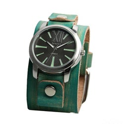 Nemesis Women's Green Leather Band Watch