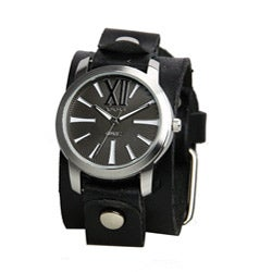 Nemesis Women's Roman Black Leather Band Watch