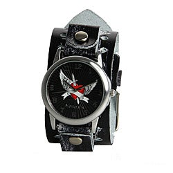 Nemesis Women's Angel Heart Leather Band Watch
