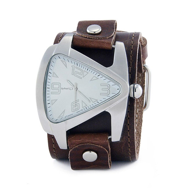 Nemesis Men's Oversized Silvertone Triangle Watch