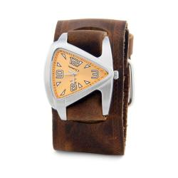 Nemesis Women's Orange Triangle Leather Strap Watch