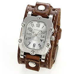 Nemesis Men's Brown Leather-strap Quartz Watch