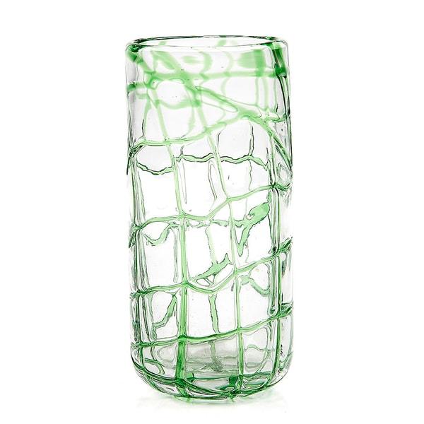 Impulse! Abstract Green Highball Glasses (Set of 4)