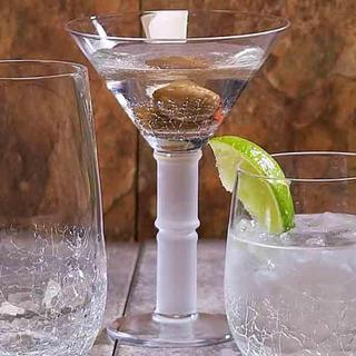 Impulse Crackle Martini Glasses (Set of 4)