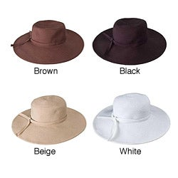 Handmade Grosgrain Ribbon Crushable 4.5-inch Brimmed Travel Sun Hat (China)