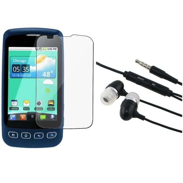 3.5mm In-ear Headset/ Screen Protector for LG LS670 Optimus S