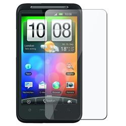INSTEN Black Snap-on Rubber Coated Phone Case Cover/ Screen Protector for HTC Desire HD