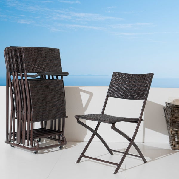 RST Folding Indoor and Outdoor Chairs and Cart (Set of 6) - Free ...