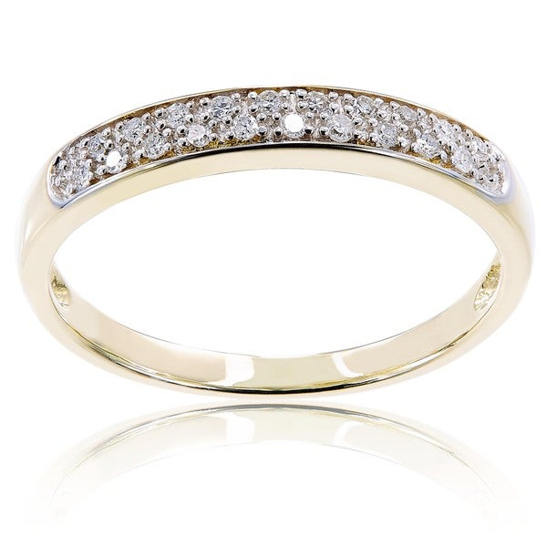 Miadora 10k Gold and 1/10ct TDW Diamond Band (G-H, I2-I3)