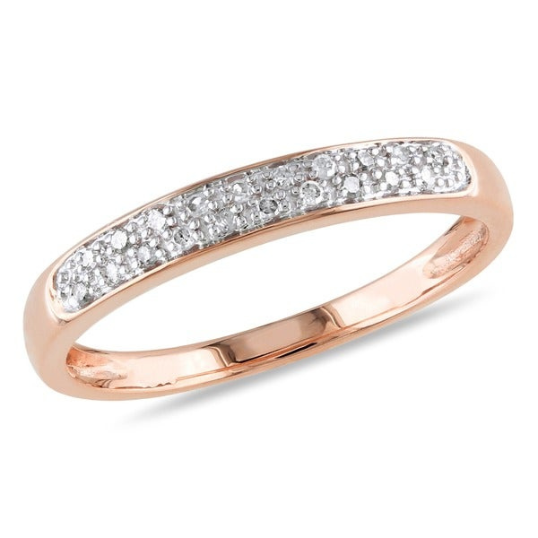 Miadora 10k Gold and 1/10ct TDW Diamond Band