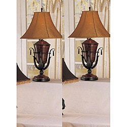 London 35-inch Rust Table Lamps (Set of 2) - Thumbnail 0
