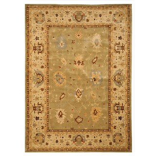 Green Traditional Oriental Katabagh Rug (7'10 x 11'2)