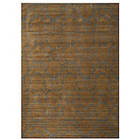 Blue Transitional Floral Himalaya Area Rug (7'10 x 11'2)