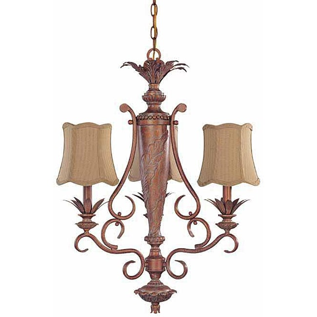 Island Cay 3-light Coral Reef Chandelier