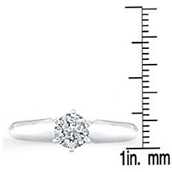 Victoria Kay 14k White Gold 1/2ct TDW Certified Diamond Solitaire Engagement Ring (H-I, I1-I2)