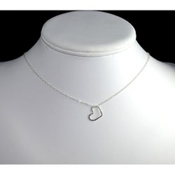 AEBDesign Sterling Silver Floating Heart Necklace