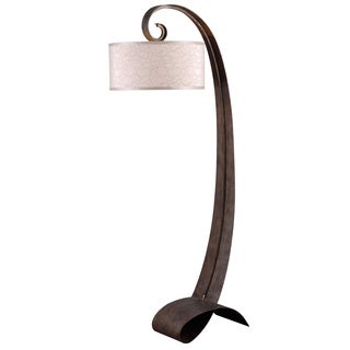 Renard 64-inch Smoked Bronze Arc Floor Lamp