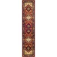 Safavieh Handmade Heritage Traditional Heriz Red/ Navy Wool Runner (2'3 x 16')