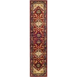 Safavieh Handmade Heritage Traditional Heriz Red/ Navy Wool Runner (2'3 x 16')