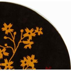 Safavieh Handmade Soho Autumn Brown New Zealand Wool Rug (8' Round)