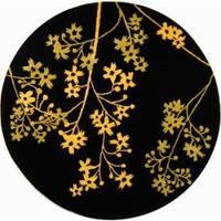 Safavieh Handmade Soho Autumn Black New Zealand Wool Rug - 8' x 8' Round