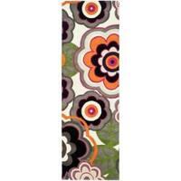 Safavieh Handmade Flower Power Ivory/ Multi N. Z. Wool Runner Rug