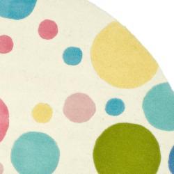 Safavieh Handmade Soho Bubblegum Ivory/ Multi N. Z. Wool Rug (8' Round) - Thumbnail 1