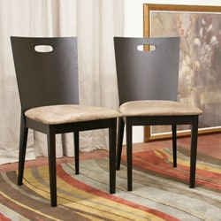 Baxton Studio Lamar Dark Brown Dining Chairs (Set of 2) - Thumbnail 1