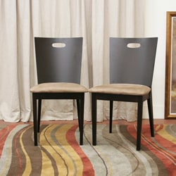 Baxton Studio Lamar Dark Brown Dining Chairs (Set of 2) - Thumbnail 2