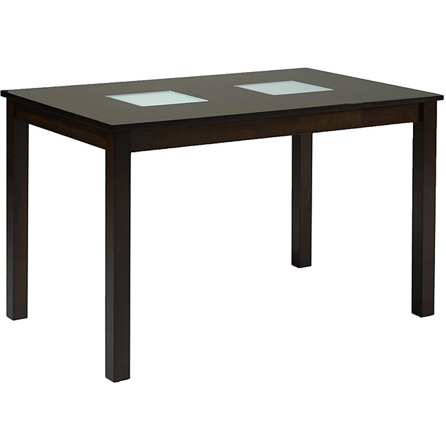 farrington dark brown wood modern dining table free shipping today