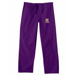Gelscrub Unisex Purple LSU Tiger Scrub Pants - Thumbnail 0