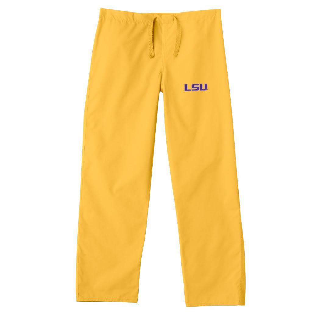 Gelscrub Unisex Gold LSU Tiger Scrub Pants