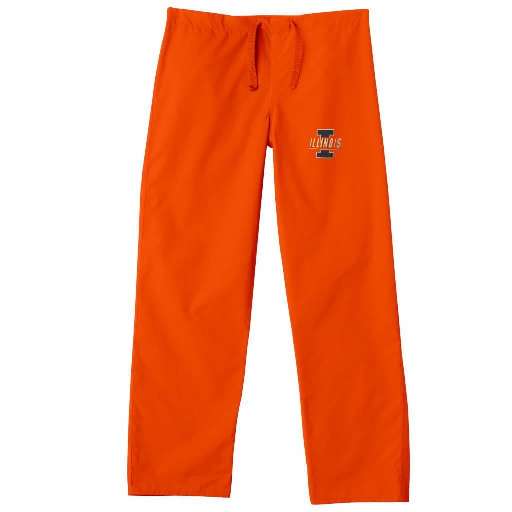 Gelscrub Unisex Orange Illinois Illini Scrub Pants