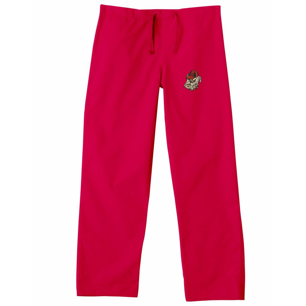 Gelscrub Unisex Red Georgia Bulldog Scrub Pants - Thumbnail 0