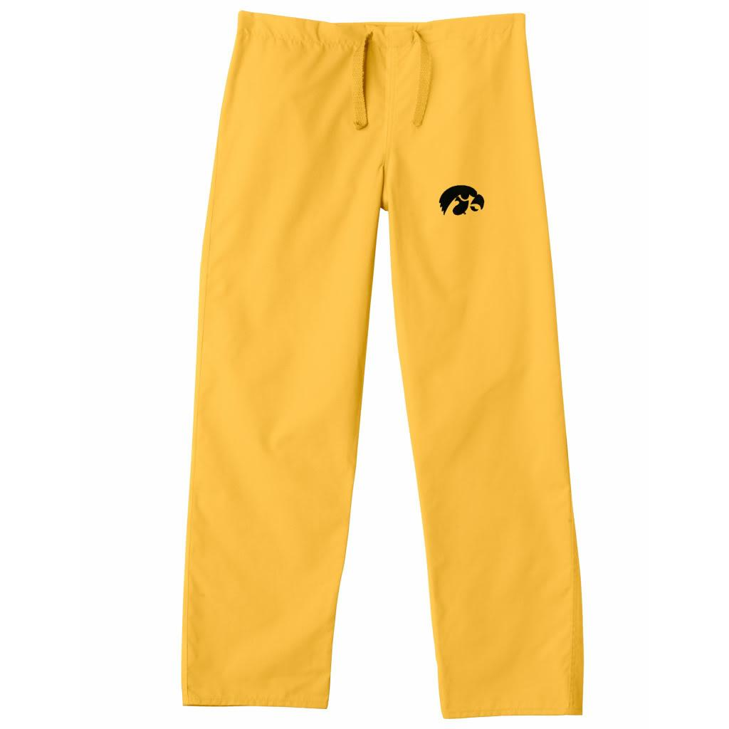 Gelscrub Unisex Gold Iowa Hawkeye Scrub Pants