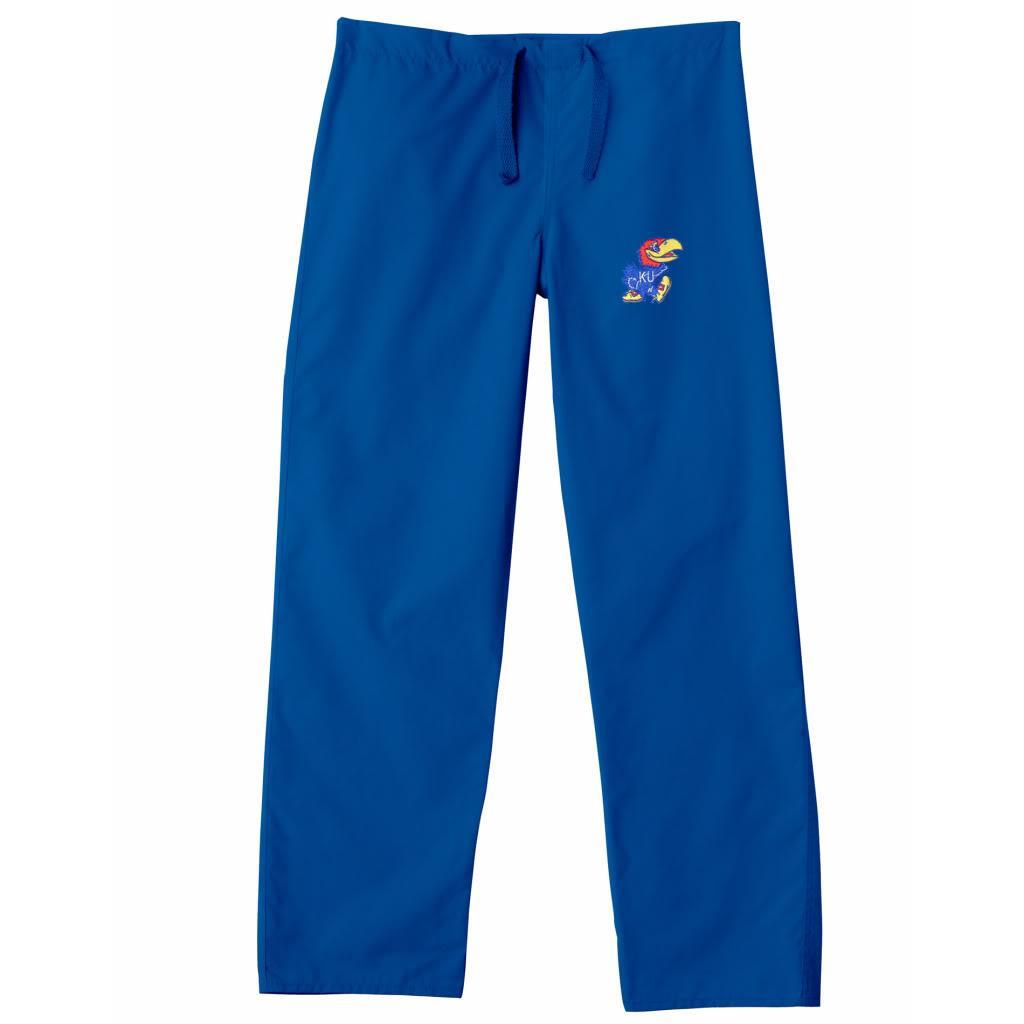 Gelscrub Unisex Royal Kansas Jayhawk Scrub Pants