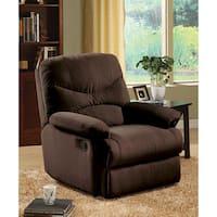 Plush Chocolate Microfiber Recliner Chair
