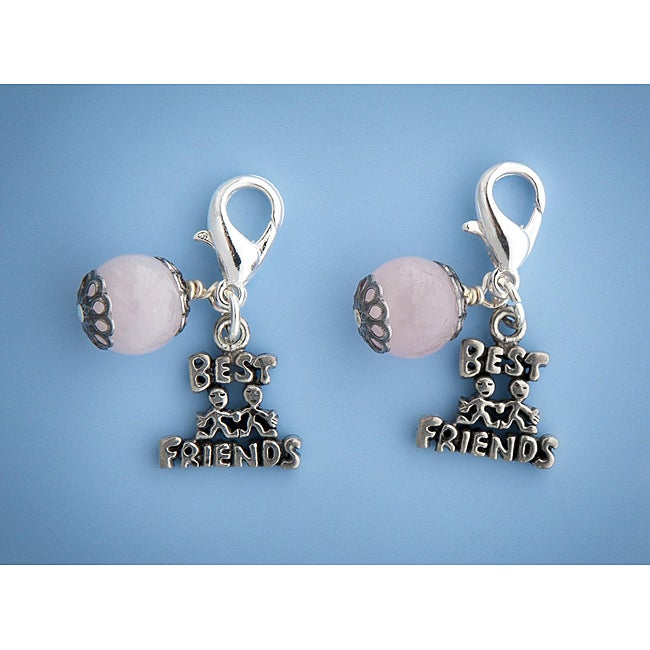 Fashion Forward Pewter 'Best Friends' Charms (Set of 2)