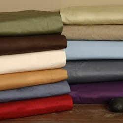 Solid Color Cotton 15-inch Drop Bedskirt