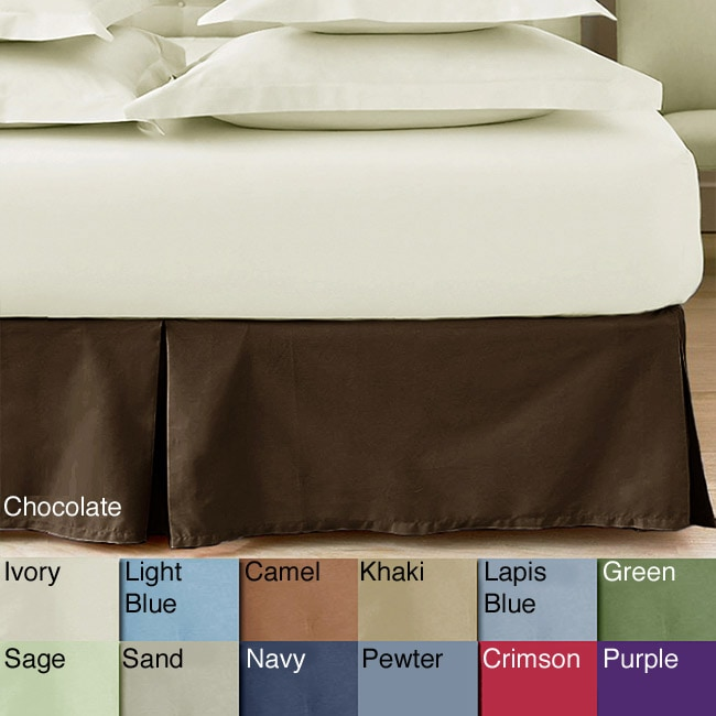 Solid Color Cotton 15-inch Drop Bedskirt - Thumbnail 0
