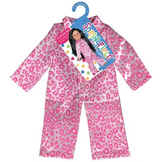 Springfield Collection Pink and White Leopard Pajamas