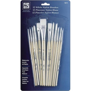 White Nylon Brush Set (Pack of 12)