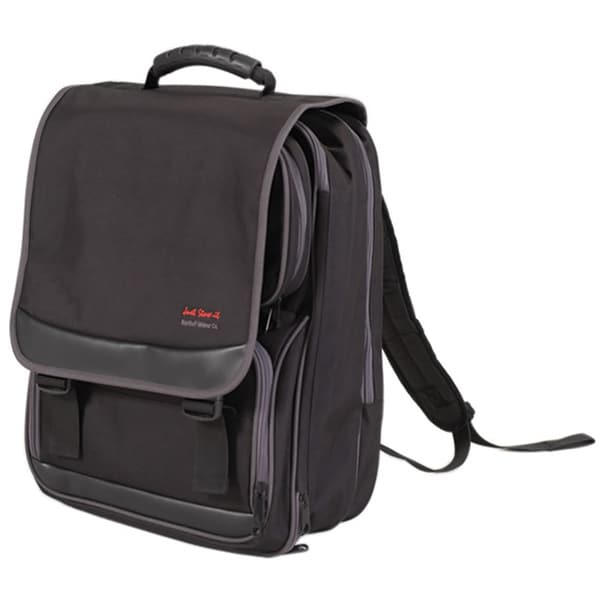 Just Stow It Black Canvas Artist Backpack with Padded Shoulder Straps
