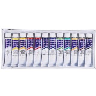 Reeves 12-piece Oil Paint Set