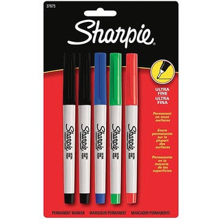 Sanford Sharpie Ultra Fine Point Permanent Markers (Pack of 5)